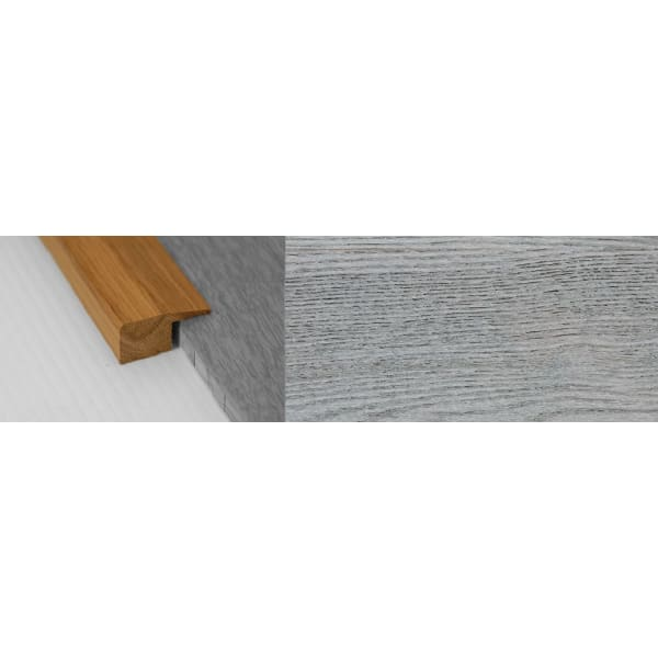 Smokehouse Grey Stained Solid Oak Square Edge Flooring Profile 15mm 2.7m