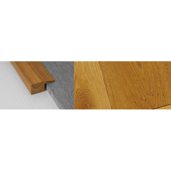 Smoked Distressed Stained Solid Oak Square Edge Flooring Profile 15mm 2.7m