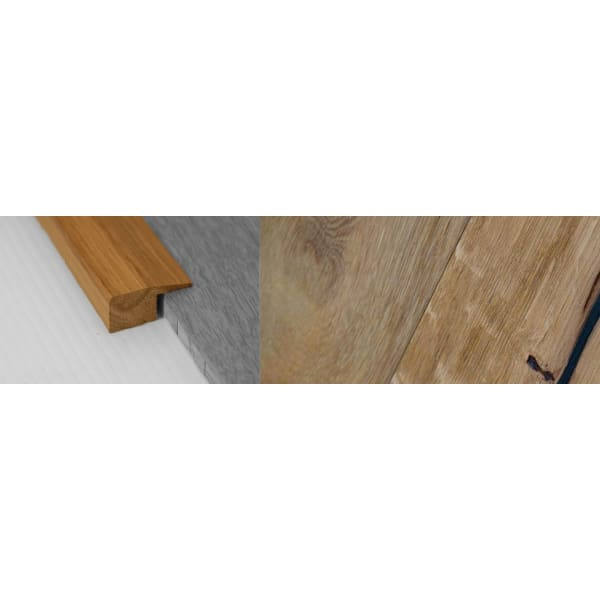 Weathered Oak Beam Stained Solid Oak Square Edge Flooring Profile 15mm 2.7m