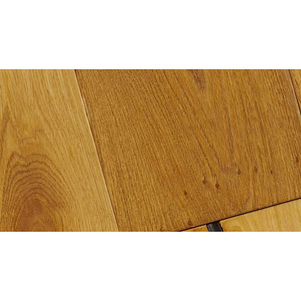 Smoked Distressed Stained 15mm Oak Stair Nosing Profile Soild Hardwood 2.7m