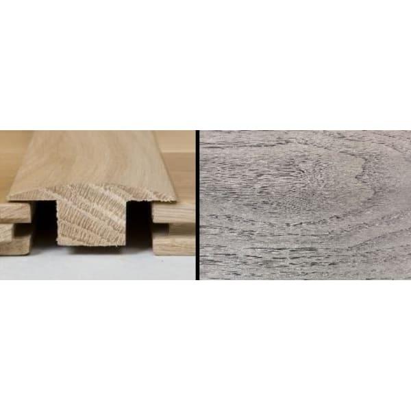 Mushroom Grey Stained T-Bar Profile Solid Hardwood 1m