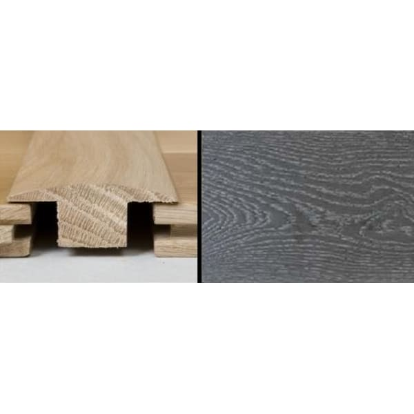 Silver Grey Stained T-Bar Profile Solid Hardwood 2.4m