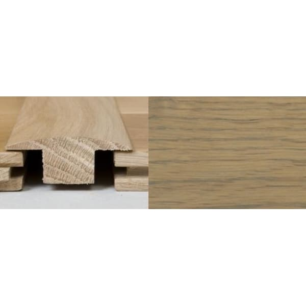 Grey Oak T-Bar Profile Soild Hardwood 2.4m