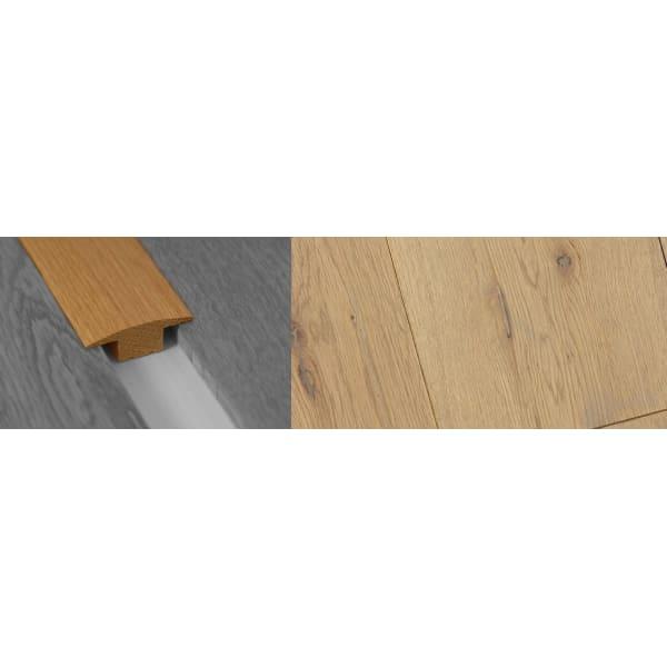 Grey Wash Solid Oak T-Bar Profile Soild Hardwood 15mm Rebate Solid 2.7m