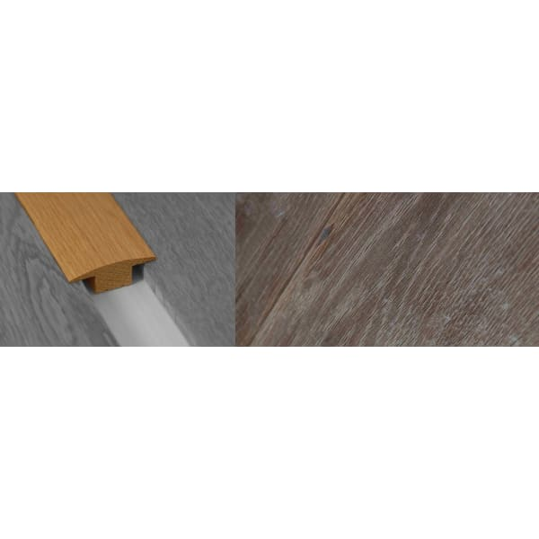 Fired Brick Solid Oak T-Bar Profile Soild Hardwood 15mm Rebate Solid 2.7m