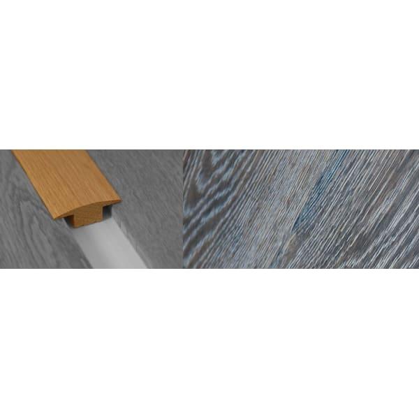 Grey Wharf Stained Solid Oak T-Bar Profile Hardwood 15mm Rebate 2.7m