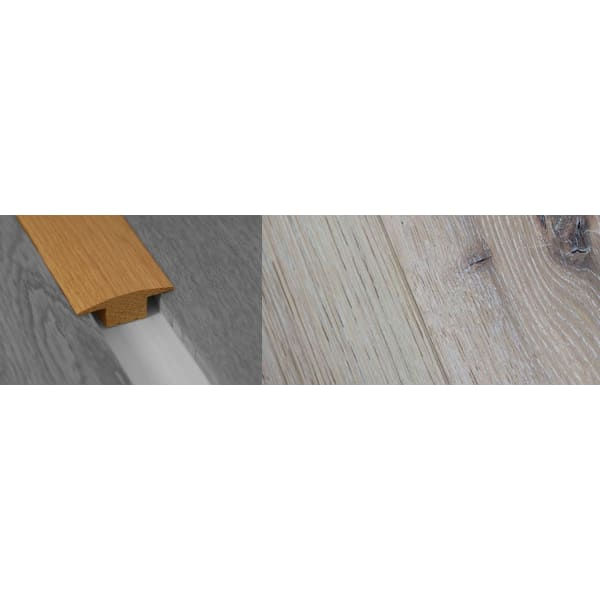 Limeshouse White Stained Solid Oak T-Bar Profile Hardwood 15mm Rebate 2.7m
