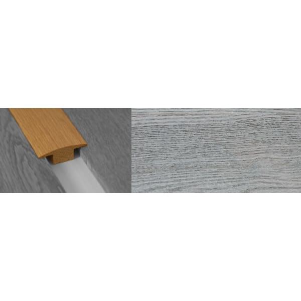 Smokehouse Grey Stained Solid Oak T-Bar Profile Hardwood 15mm Rebate 2.7m