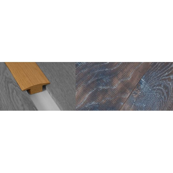 Tannery Brown Stained Solid Oak T-Bar Profile Hardwood 15mm Rebate 2.7m