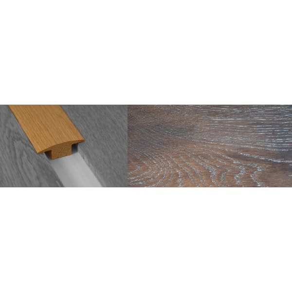Urban Sunset Stained Solid Oak T-Bar Profile Hardwood 15mm Rebate 2.7m