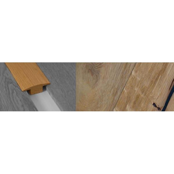 Weathered Oak Beam Stained Solid Oak T-Bar Profile Hardwood 15mm Rebate 2.7m