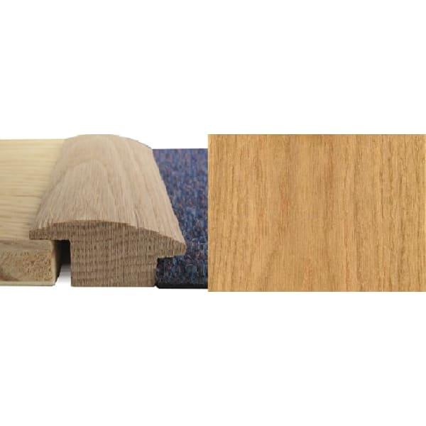 Oak Wood to Carpet Profile Soild Hardwood 15mm Rebate 1.0m