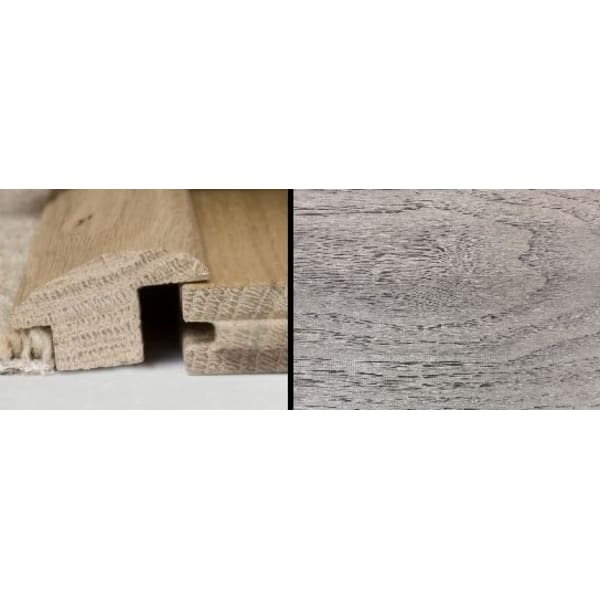 Mushroom Grey Stained Wood to Carpet Profile Solid Hardwood 1m