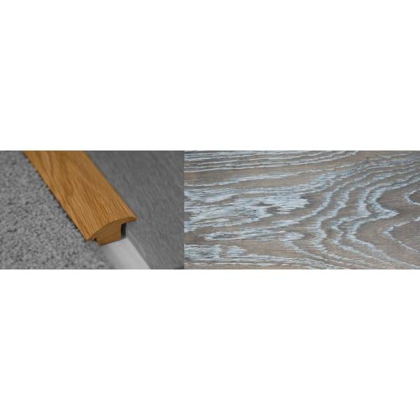 Silver Haze Stained Wood to Carpet Profile Soild Hardwood 15mm Rebate 2.7m