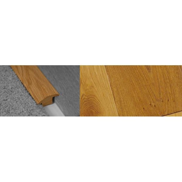Smoked Distressed Stained Wood to Carpet Profile Soild Hardwood 15mm Rebate 2.7m