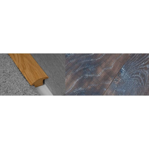 Tannery Brown Stained Wood to Carpet Profile Soild Hardwood 15mm Rebate 2.7m