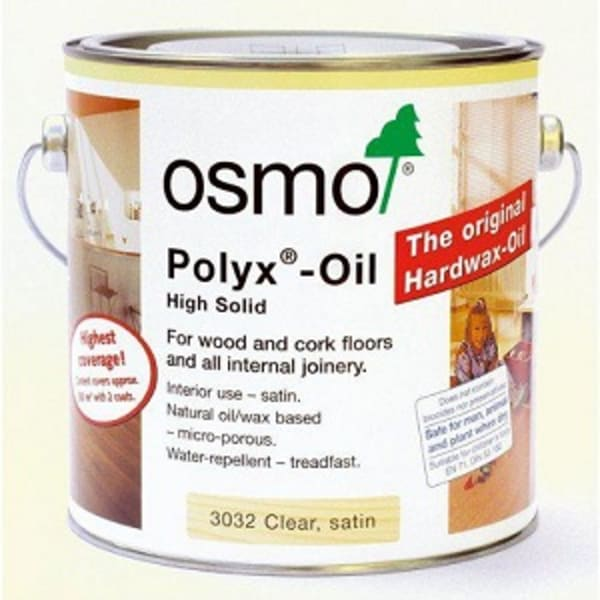 OSMO 3032 SATIN  Clear Hard Wax Wood Flooring Oil 2.5L