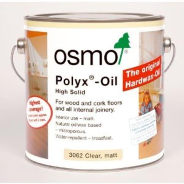 OSMO 3062 ULTRA-MATT  Clear Hard Wax Wood Flooring Oil 2.5L