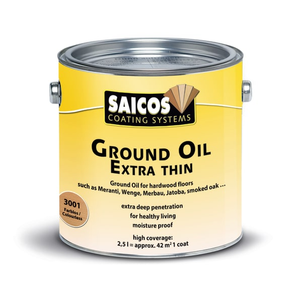 Saicos Clear Extra Thin Wood Flooring Wax 2.5L