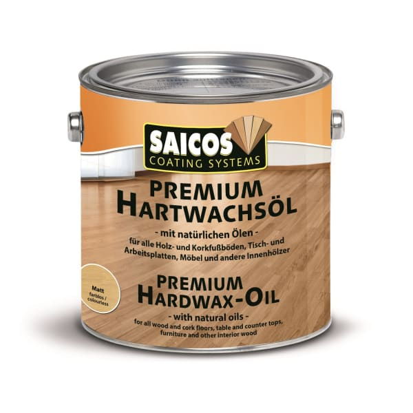 Saicos Premium Ultra Matt Quick Drying Wood Flooring Oil 2.5L