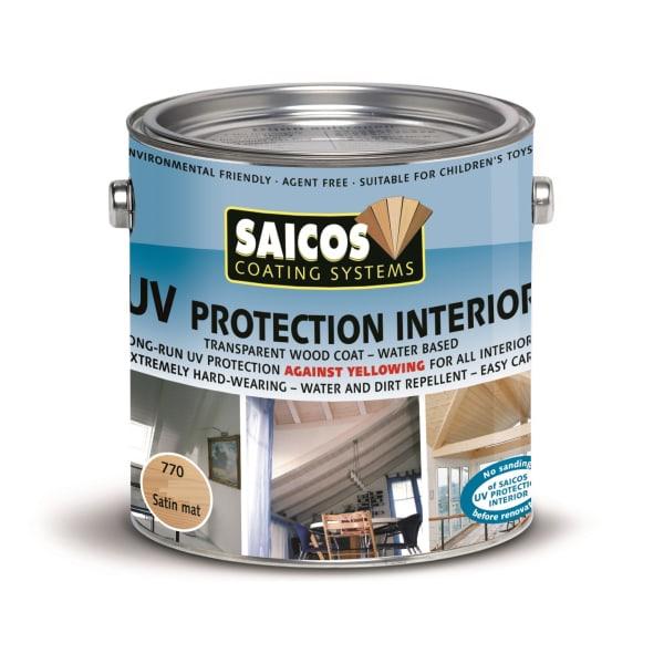 Saicos UV Protective Finish White Transparent Wood Flooring Oil 2.5L