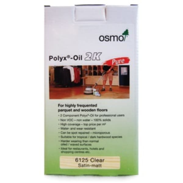 Osmo Polyx-Oil Pure Osma 2k 6125 for Wood Flooring