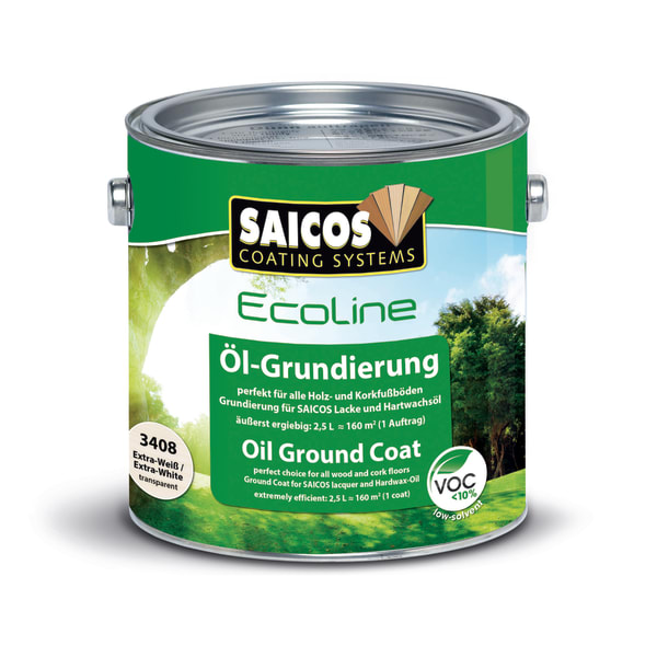 Saicos Eco Ground Coat Wood Flooring Oil Mahogany (2.5L)