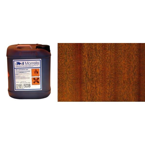 Morrells Light Fast Stain 5L Natural Mahogany Wood Flooring Stain 0181/100 (1L=8m2 per coat)