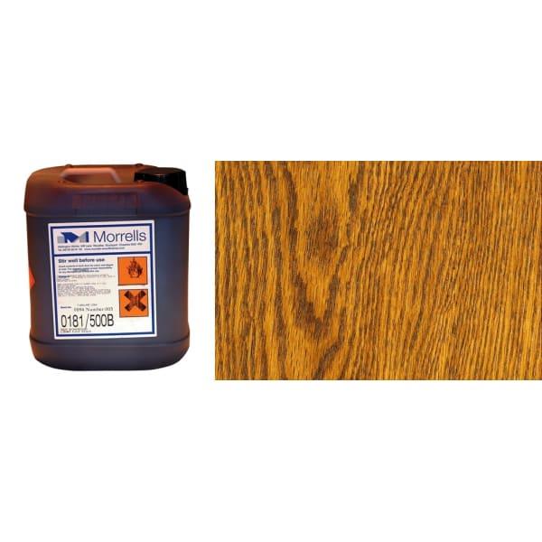 Morrells Light Fast Stain 5L New Light Oak Wood Flooring Stain 0182/100 (1L=8m2 per coat)