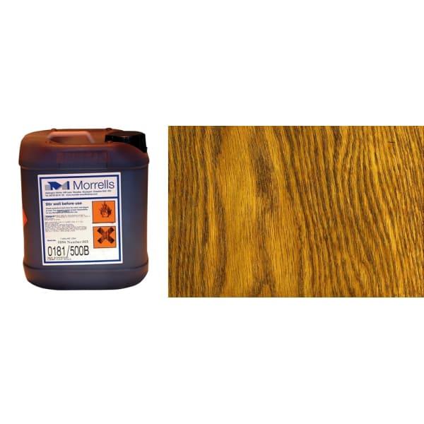 Morrells Light Fast Stain 5L New Medium Oak Wood Flooring Stain 0182/200 (1L=8m2 per coat)