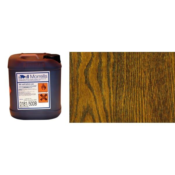 Morrells Light Fast Stain 5L Dark Oak Wood Flooring Stain 0182/300 (1L=8m2 per coat)
