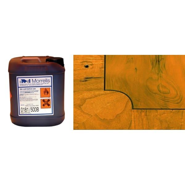 Morrells Light Fast Stain 5L Yew Wood Flooring Stain 0191/000 (1L=8m2 per coat)