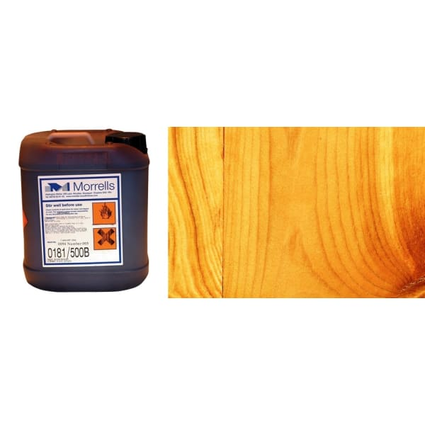 Morrells Light Fast Stain 5L Honey Pine Wood Flooring Stain  0198/100 (1L=8m2 per coat)