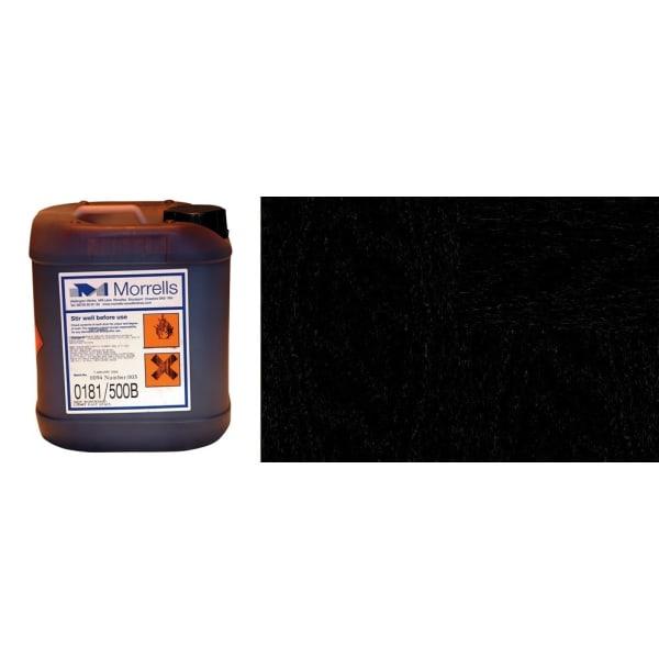 Morrells Light Fast Stain 5L Black Wood Flooring Stain 0172/000 (1L=8m2 per coat)