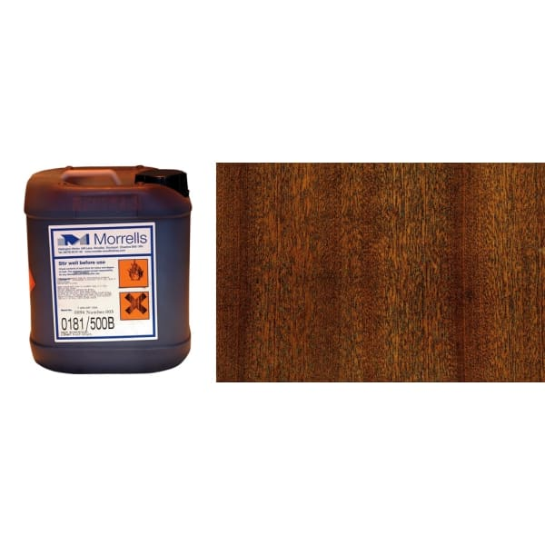 Morrells Light Fast Stain 5L Mahogany Wood Flooring Stain 0181/000(1L=8m2 per coat)