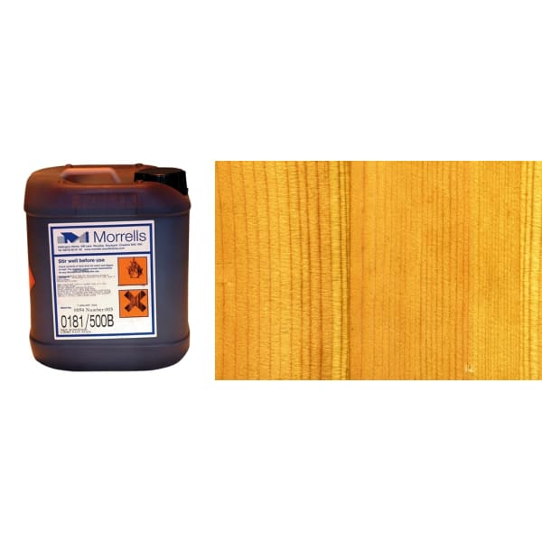 Morrells Light Fast Stain 5L Stripped Pine Wood Flooring Stain 0181/300(1L=8m2 per coat)