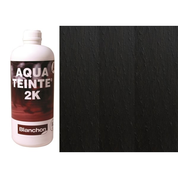 Blanchon Aquateinte 2K BLACK Wood Flooring Stain 1L