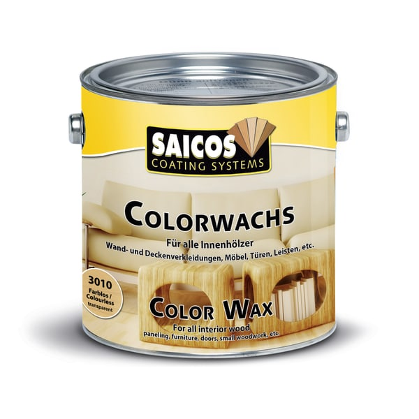 Saicos Colour Wax Classic Mahogany Wood Flooring Stain 2.5L
