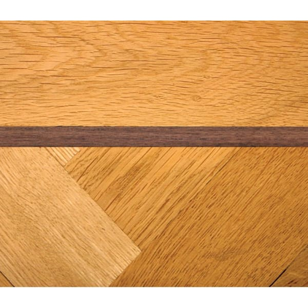 Walnut 22mm Parquet Insert Strip