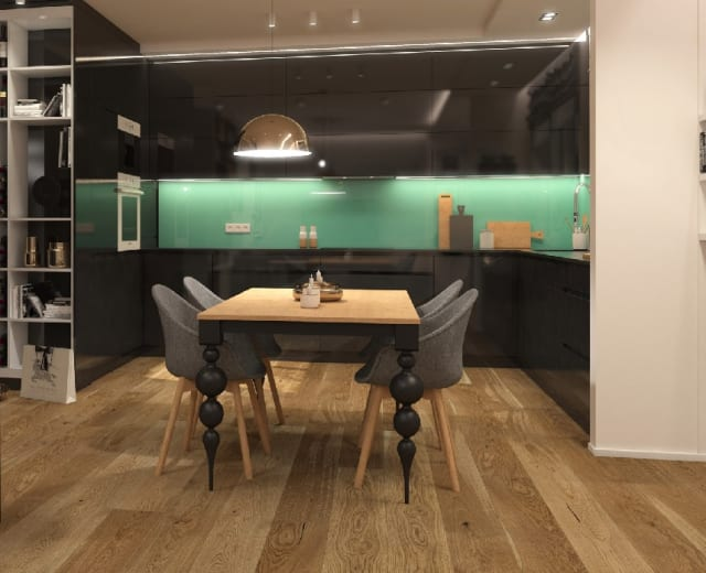 Natural Brushed Oak 14mm Matt Lacquered Engineered Wood Flooring