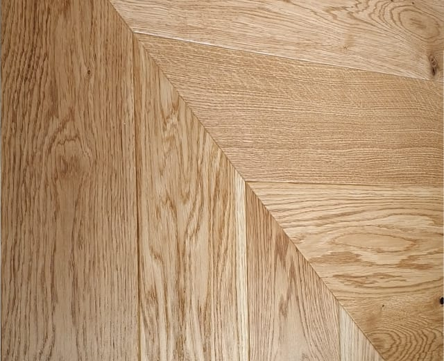 Bohus Natural Oak Brushed Matt Lacquered Chevron Parquet Flooring