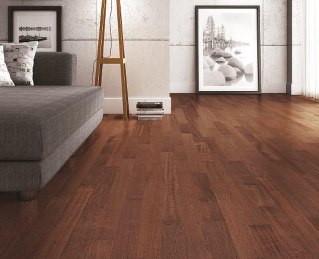 Jatoba (Brazilian Cherry) Lacquered Engineered Hardwood Flooring