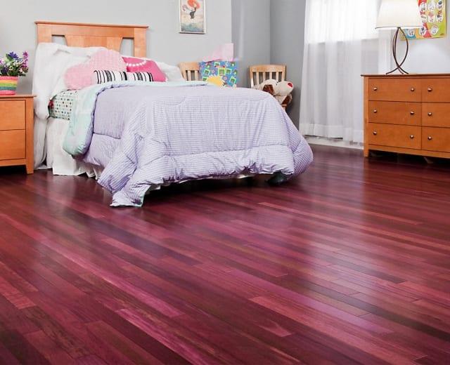 Purpleheart Lacquered Engineered Hardwood Flooring