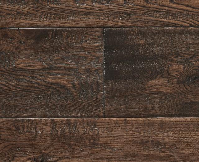 Antique Stained Oak Hand-Scraped 150mm Hardwood Flooring