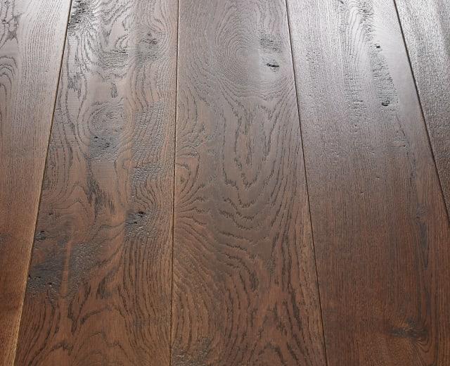 Big Earth Stained Oak Handscraped Brushed UV Oiled Engineered Hardwood Flooring