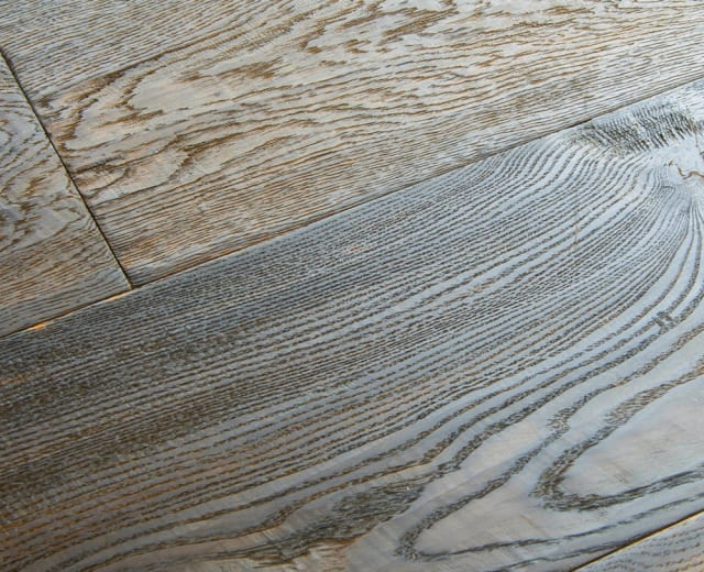 Furrowed Rustic Oak Hard-Waxed Oiled Hand-Scraped & Distressed 240mm Hardwood Flooring