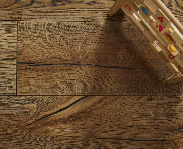 Avignon Oak Black Grain Brushed Oiled Hardwood Flooring