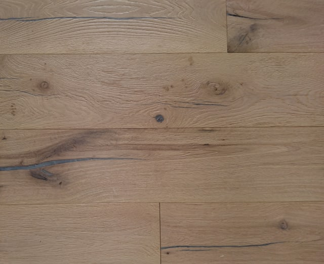 Grasmere Raw Oak Heavy Brushed Hardwax Hardwood Engineered Wood Flooring