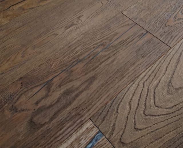 Kentmere Whiskey Stained Oak Heavy Brushed Hardwax Hardwood Engineered Wood Flooring