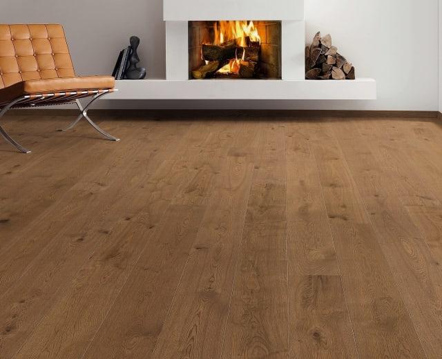 Nutmeg Stained Oak Brushed Natural Oiled Hardwood Flooring